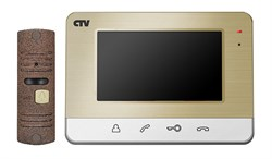 Комплект видеодомофона CTV-DP401 CH - фото 25629