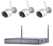 Комплект видеонаблюдения на 3 камеры для дома, дачи, офиса IP203UMPW
