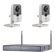 Комплект видеонаблюдения на 2 камеры для дома, дачи, офиса IP202MPW