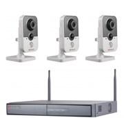 Комплект видеонаблюдения на 3 камеры для дома, дачи, офиса IP203MPW
