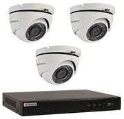 Комплект видеонаблюдения на 3 камеры для дома, дачи, офиса HDT303MP