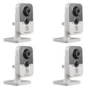 Комплект видеонаблюдения на 4 камеры для дома, дачи, офиса IP214W4MP
