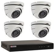 Комплект видеонаблюдения на 4 камеры для дома, дачи, офиса HDT504MP
