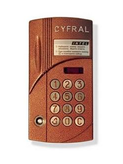 Вызывная панель CYFRAL ССД-2094М/РVС - фото 11265