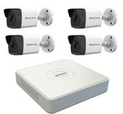 Комплект видеонаблюдения на 4 камеры для дома, дачи, офиса IP104UMP