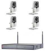 Комплект видеонаблюдения на 4 камеры для дома, дачи, офиса IP204MPW