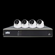 Комплект видеонаблюдения на 4 камеры для дома, дачи, офиса Atis PIR kit 4int 5MP