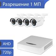 Комплект видеонаблюдения на 4 камеры для дома, дачи, офиса AHD104UMP